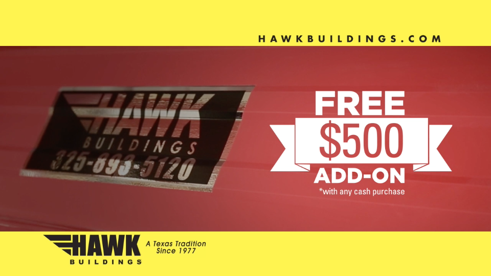 Hawk Portable Buildings – Red Hot Clear The Lot Sale – TV Commercial
