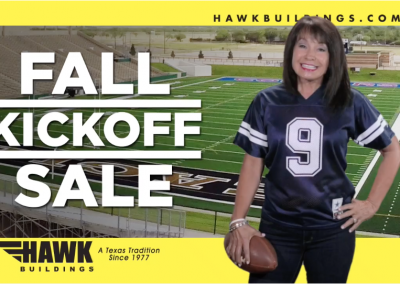 Hawk Portable Building – Fall Kickoff Sale – TV Commercial