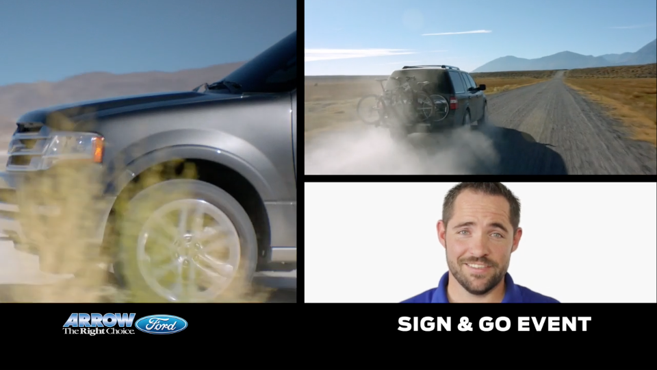 Arrow Ford – Sign and Go Promotion