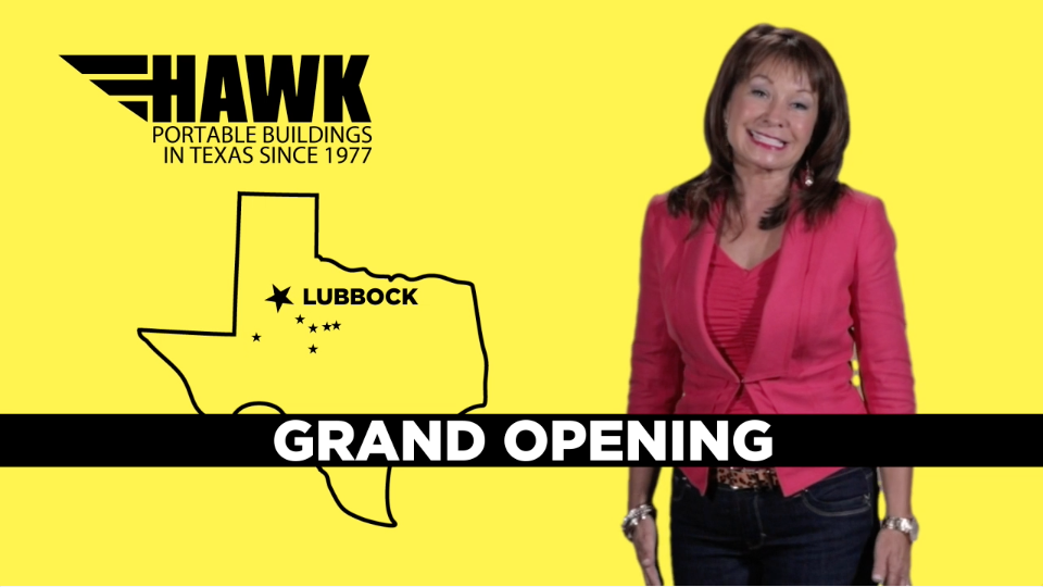 Hawk Portable Buildings – Lubbock Grand Opening – TV Commercial
